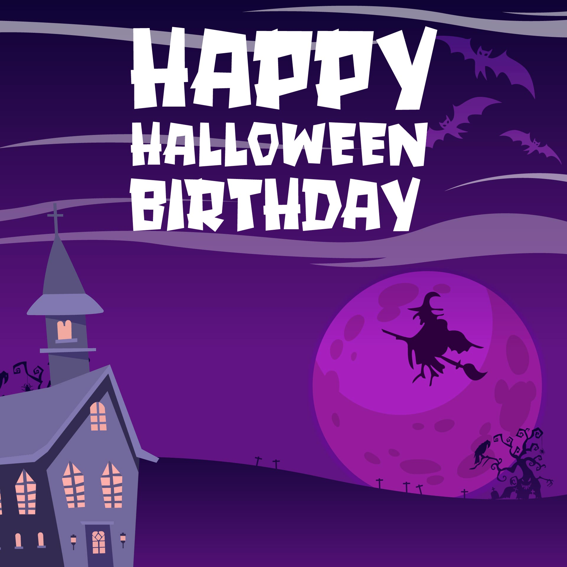 Printable Halloween Birthday Cards