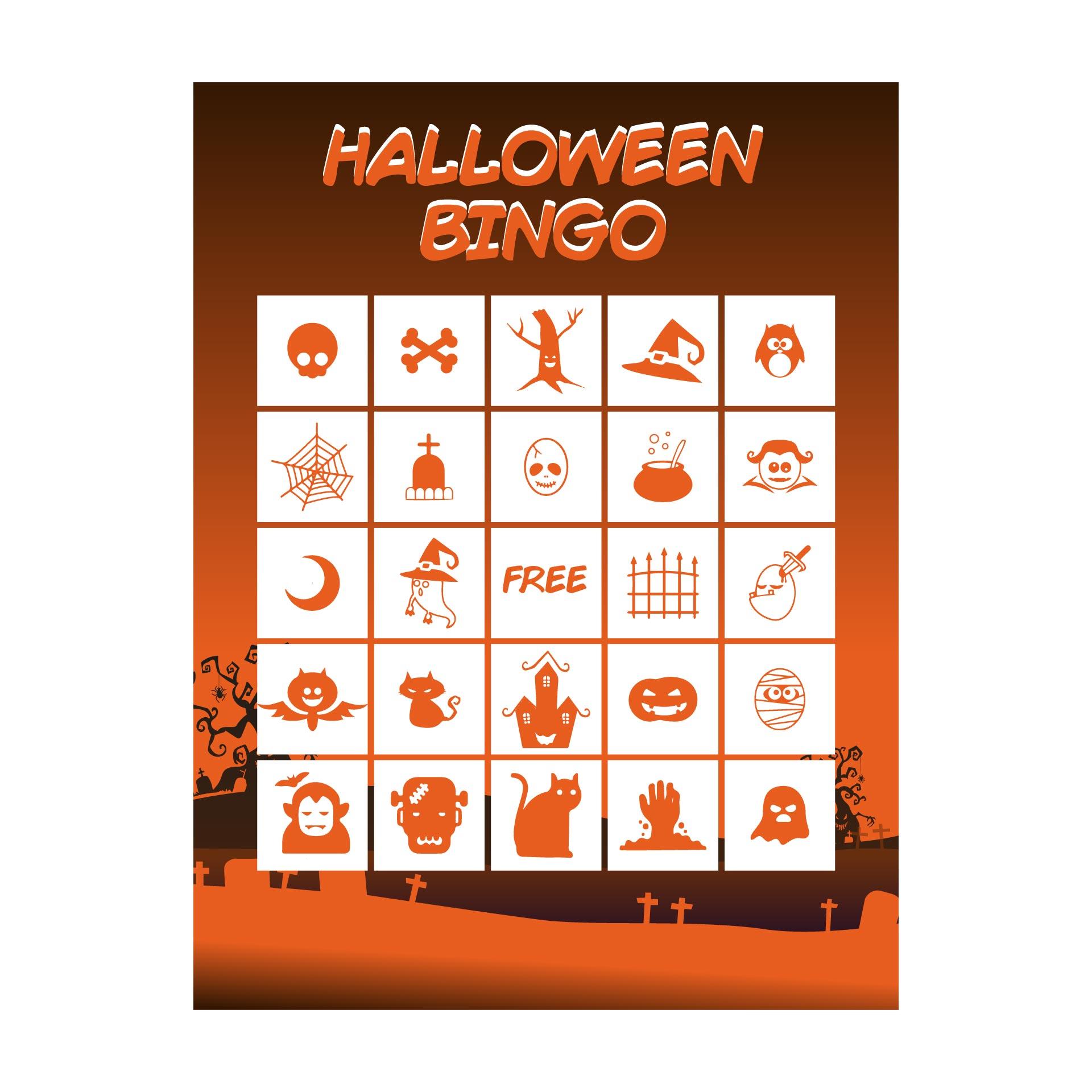 Printable Halloween Word Bingo Cards