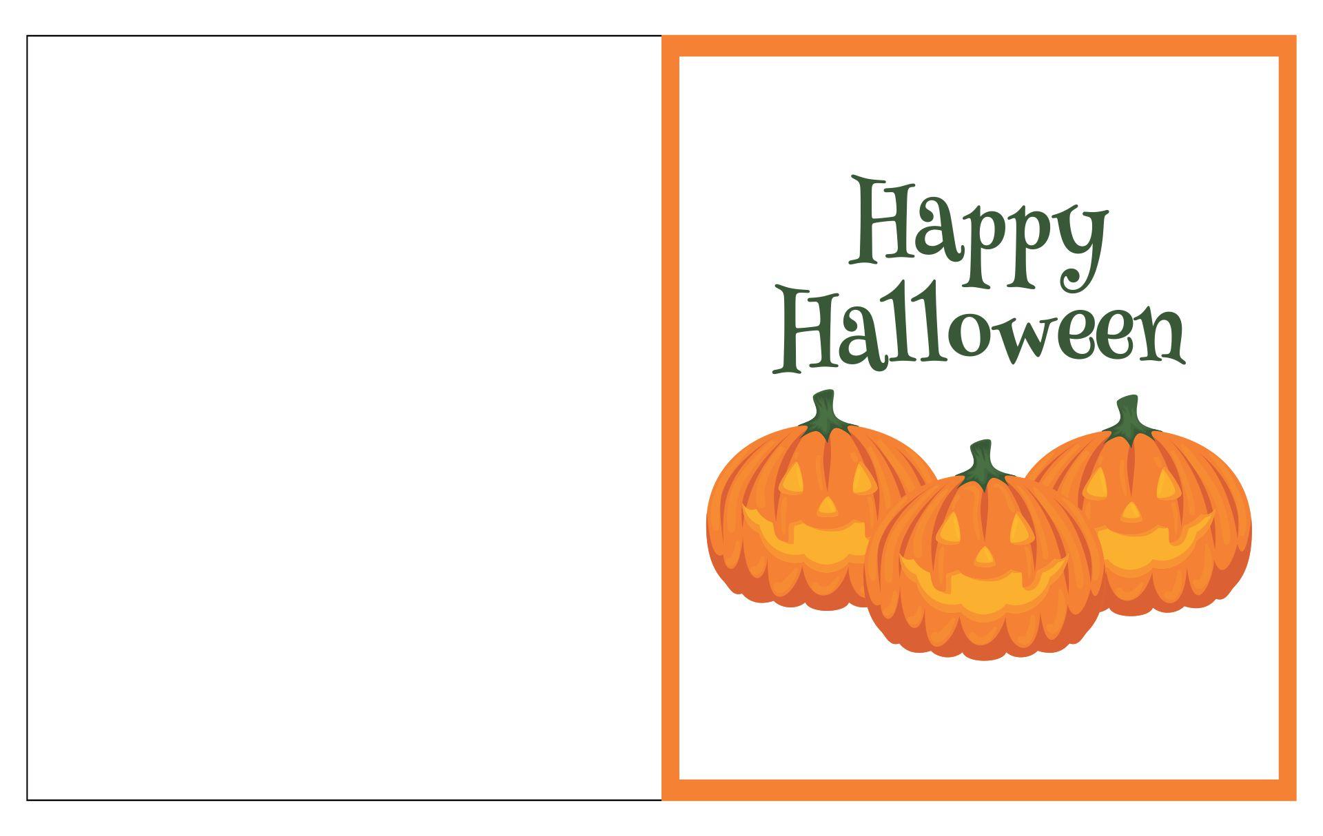 Printable Happy Halloween Cards