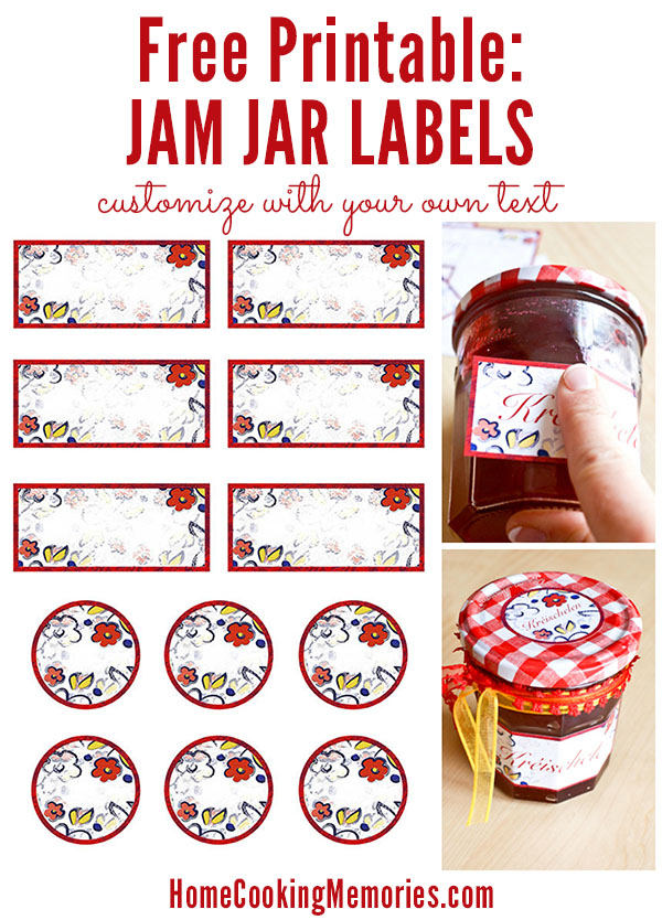 Free Printable Jam Jar Labels