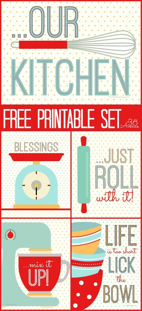 Free Printable Kitchen Art