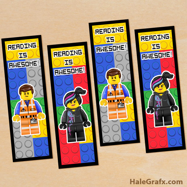 6 Images of Printable LEGO Bookmarks
