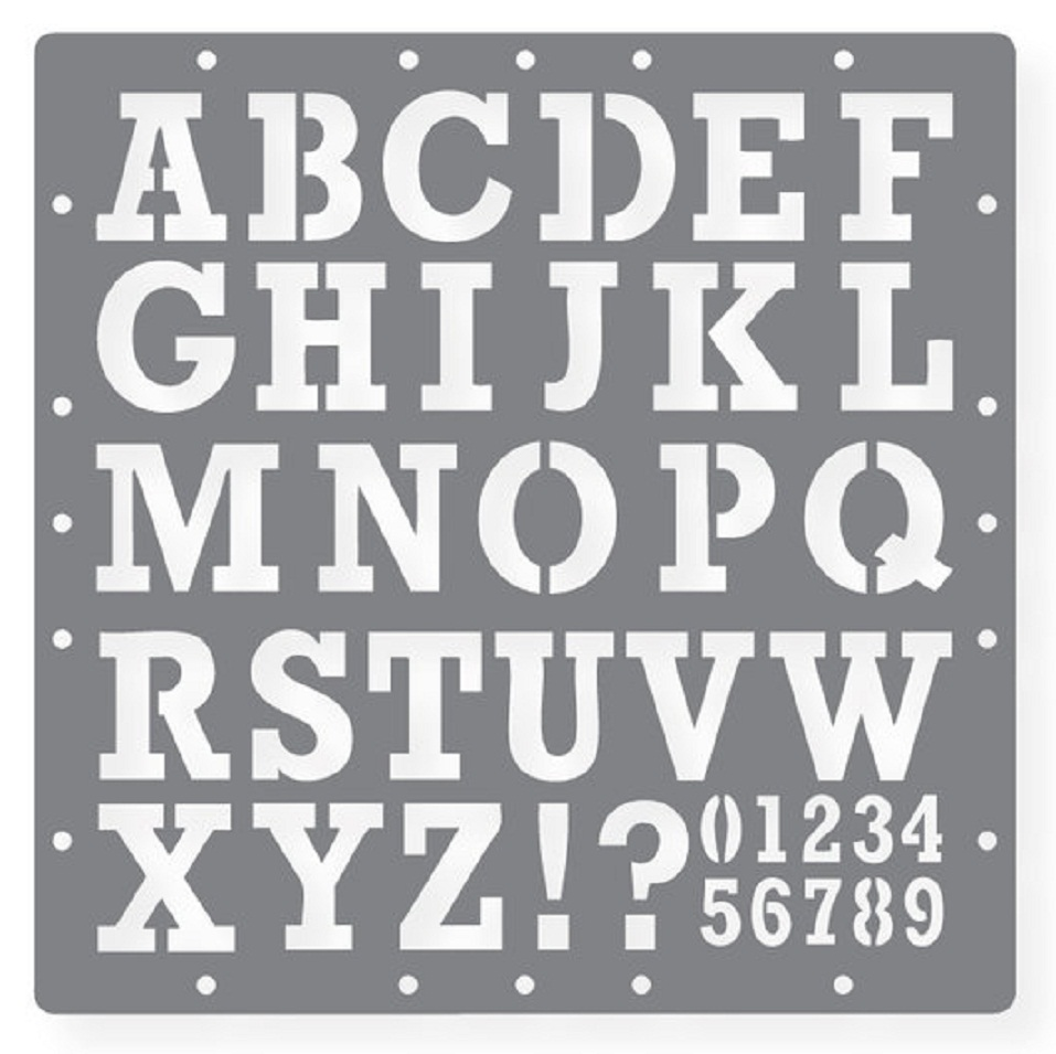 7 Images of Alphabet Number Stencil Printable