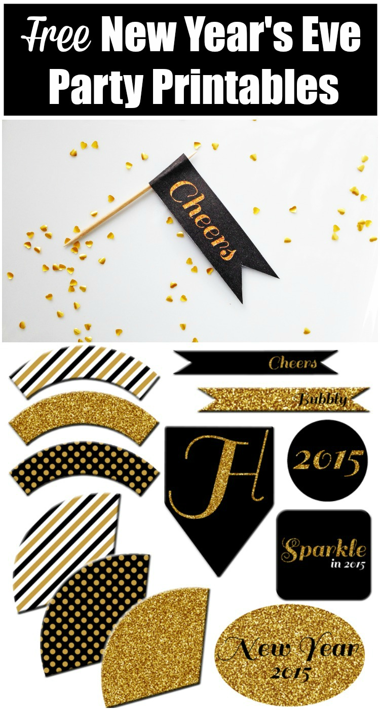 7 Images of New Year's Eve Party Printables
