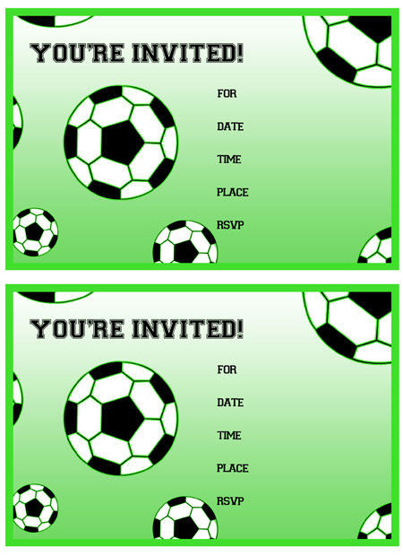 5 Images of Free Printable Soccer Birthday Invitations