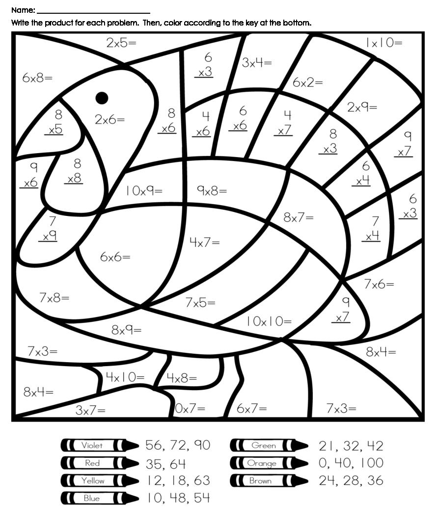 Printable Thanksgiving Math Worksheets