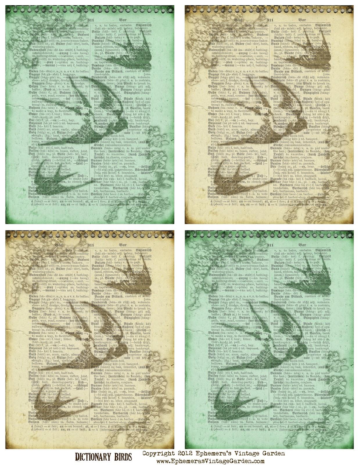 Free Printable Vintage Ephemera
