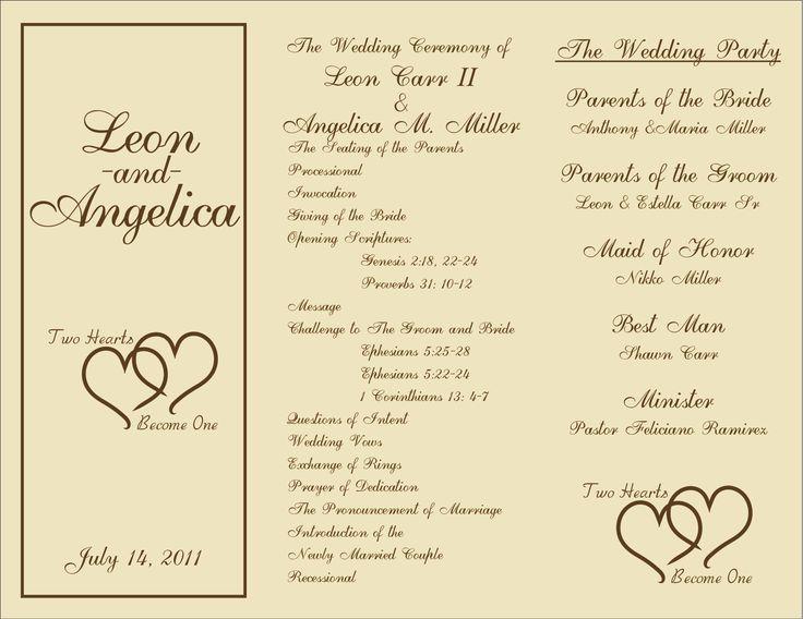7 Images of Free Printable Wedding Ceremony Programs