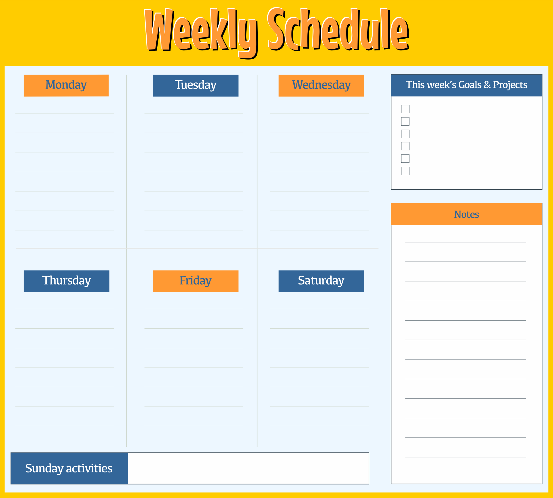 8 Best Images of Hourly Day Planner Printable Pages ...