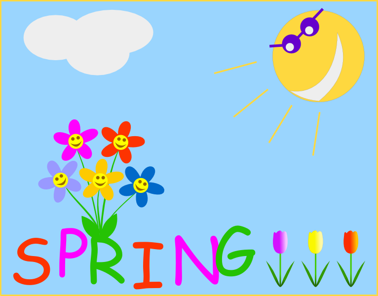 6 Images of Spring Clip Art Free Printable