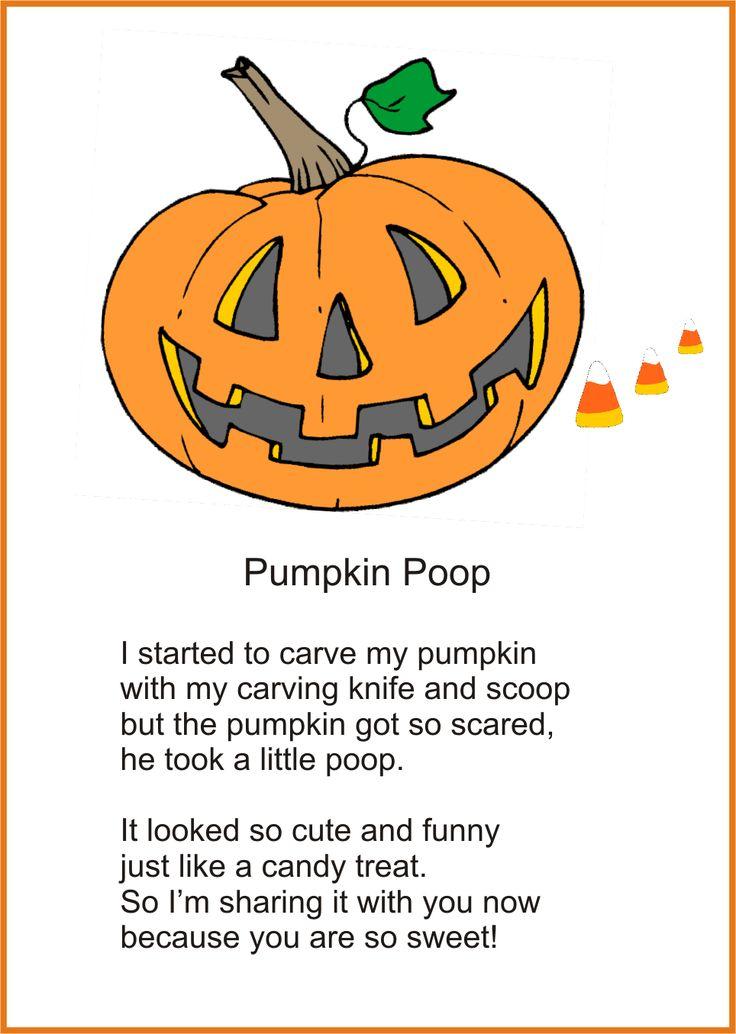 4 Images of Free Printable Pumpkin Poop Poem