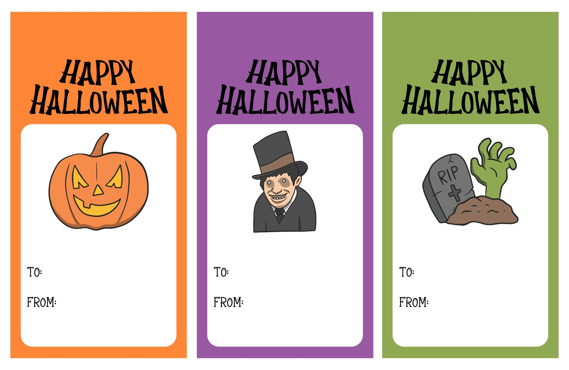 6 Images of Happy Halloween Printable Tags