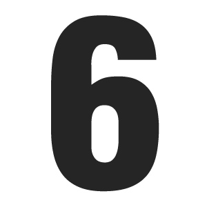 4 Images of Printable Number 6 Template