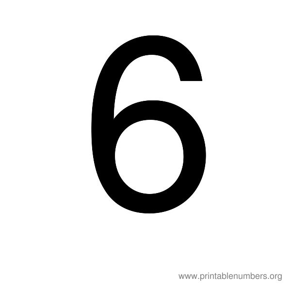 7 Images of Printable Number 5 6