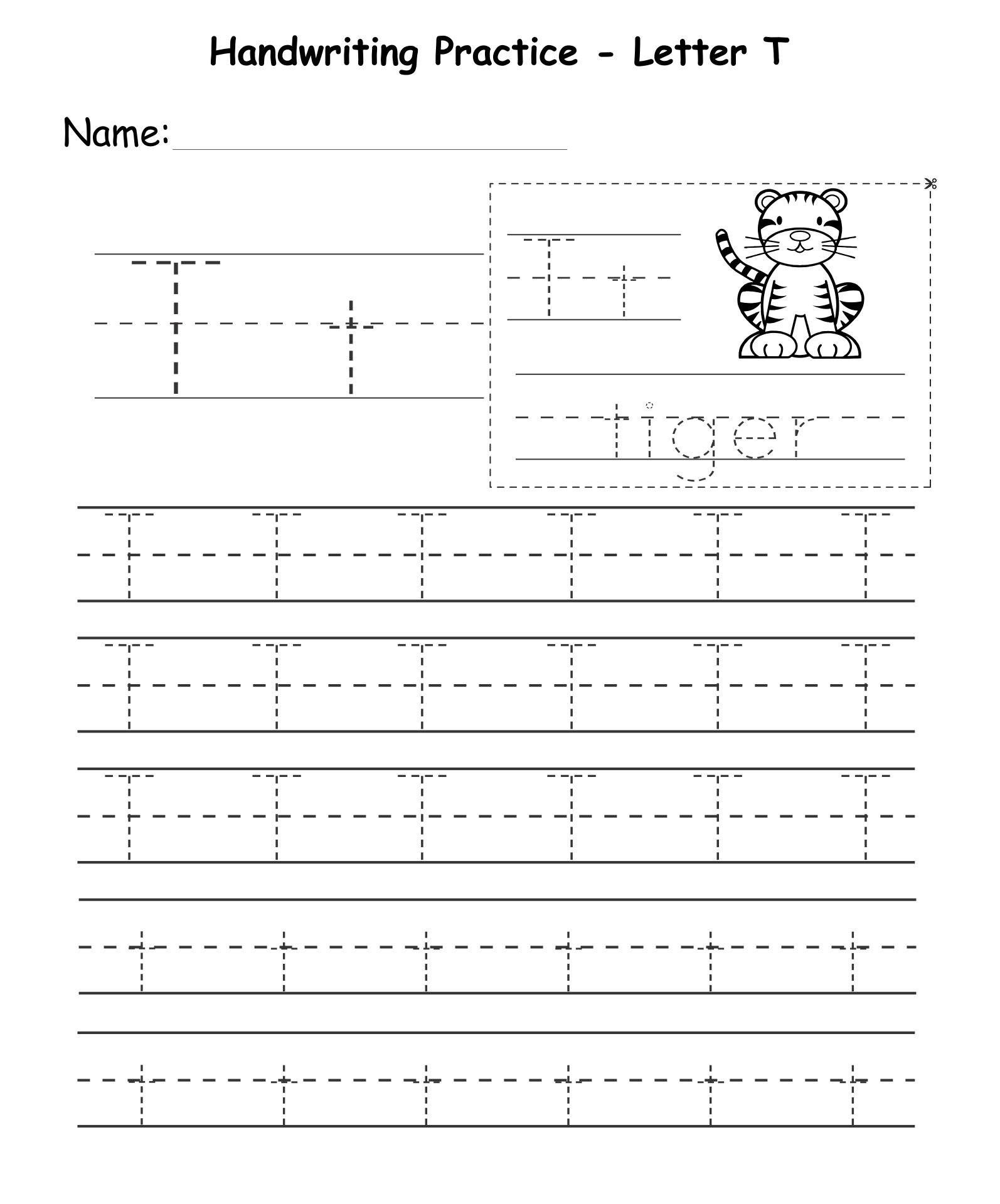 Letter T Worksheets Printable