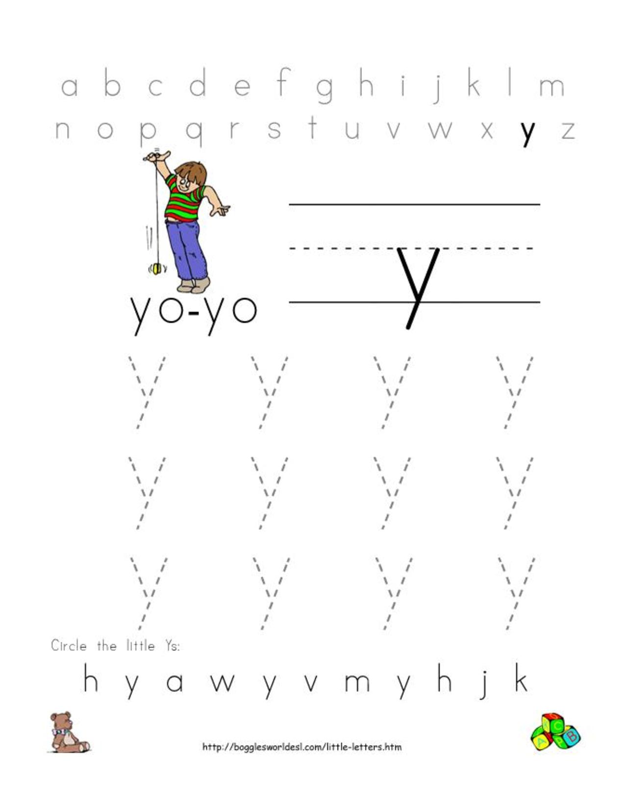 math worksheet : 6 best images of printable preschool worksheets letter y  letter  : Letter Y Worksheets Kindergarten
