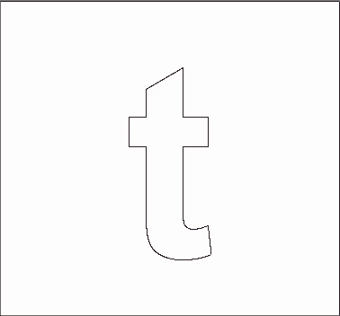 5 Images of Printable Block Letter Lowercase T