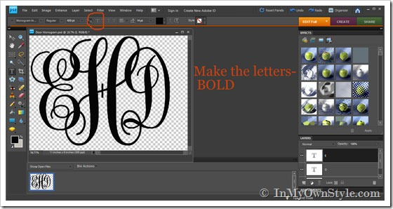 Make My Own Monogram