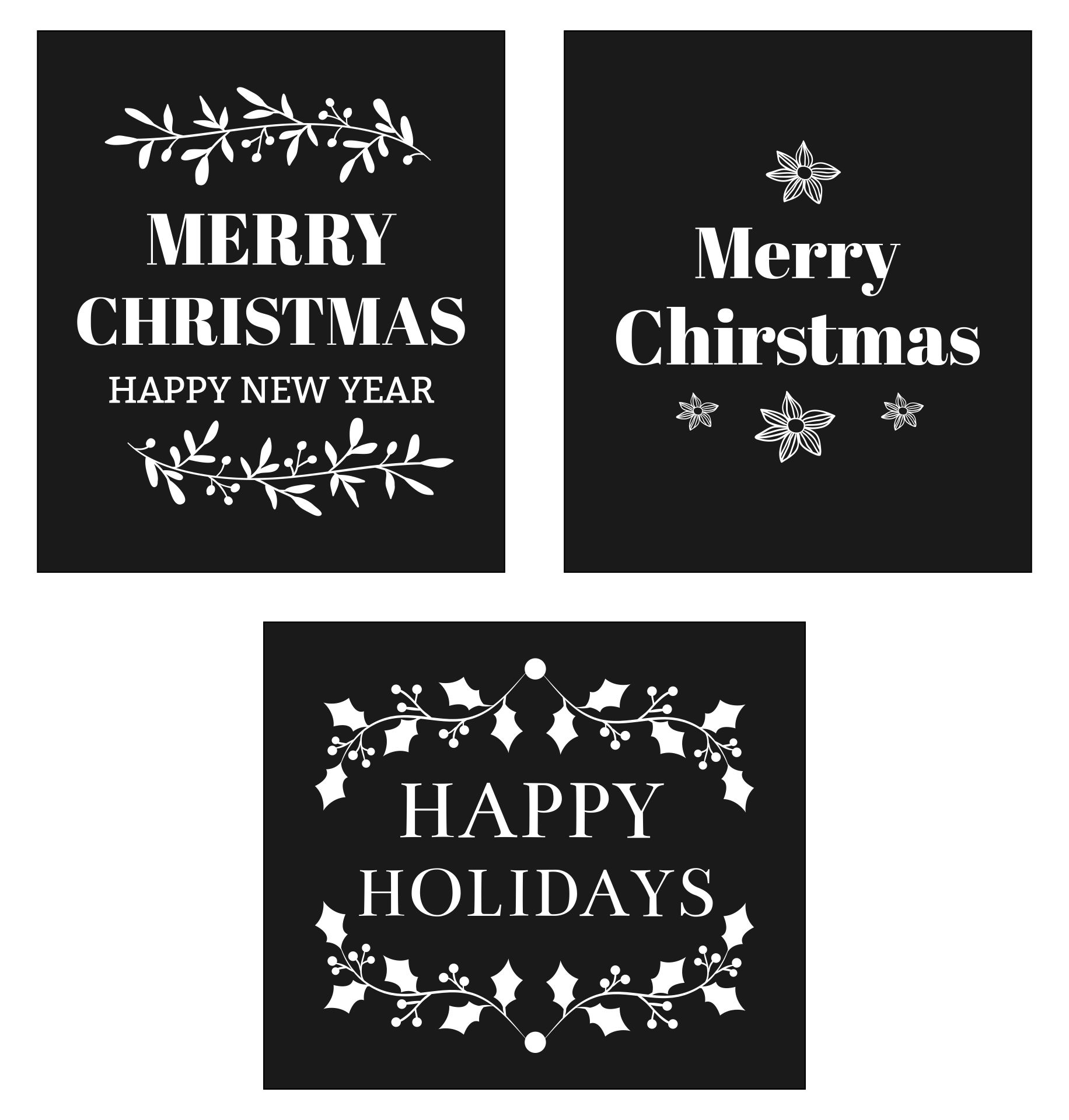 6 Images of Free Printable Christmas Chalkboard Signs