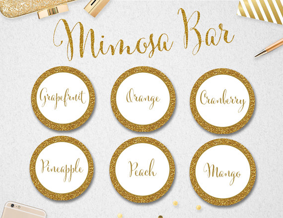 9 Images of Printable Labels For Mimosa
