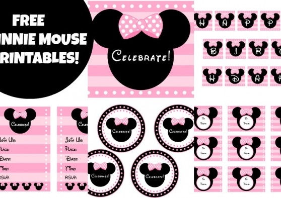 9 Images of Pink Minnie Mouse Printables Free