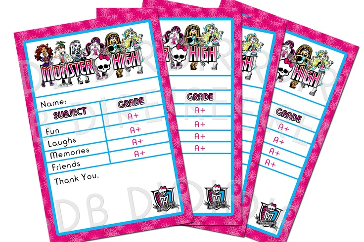 best images of monster high printable birthday cards  monster, Birthday card