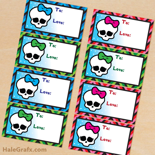 6 Images of Monster High Free Printable Tags