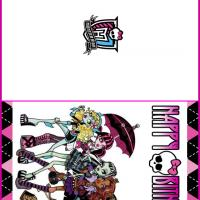 6 Images of Monster High Printable Birthday Cards