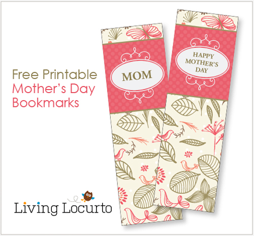 8 Images of Free Printable Bookmarks For Mother's Day Templates
