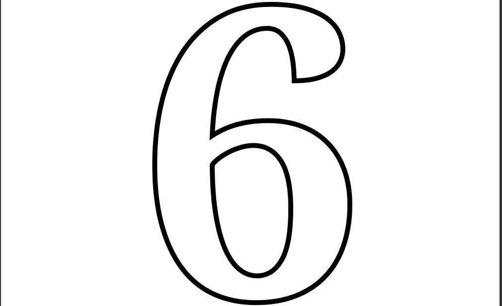 4 Best Images Of Printable Number 6 Template