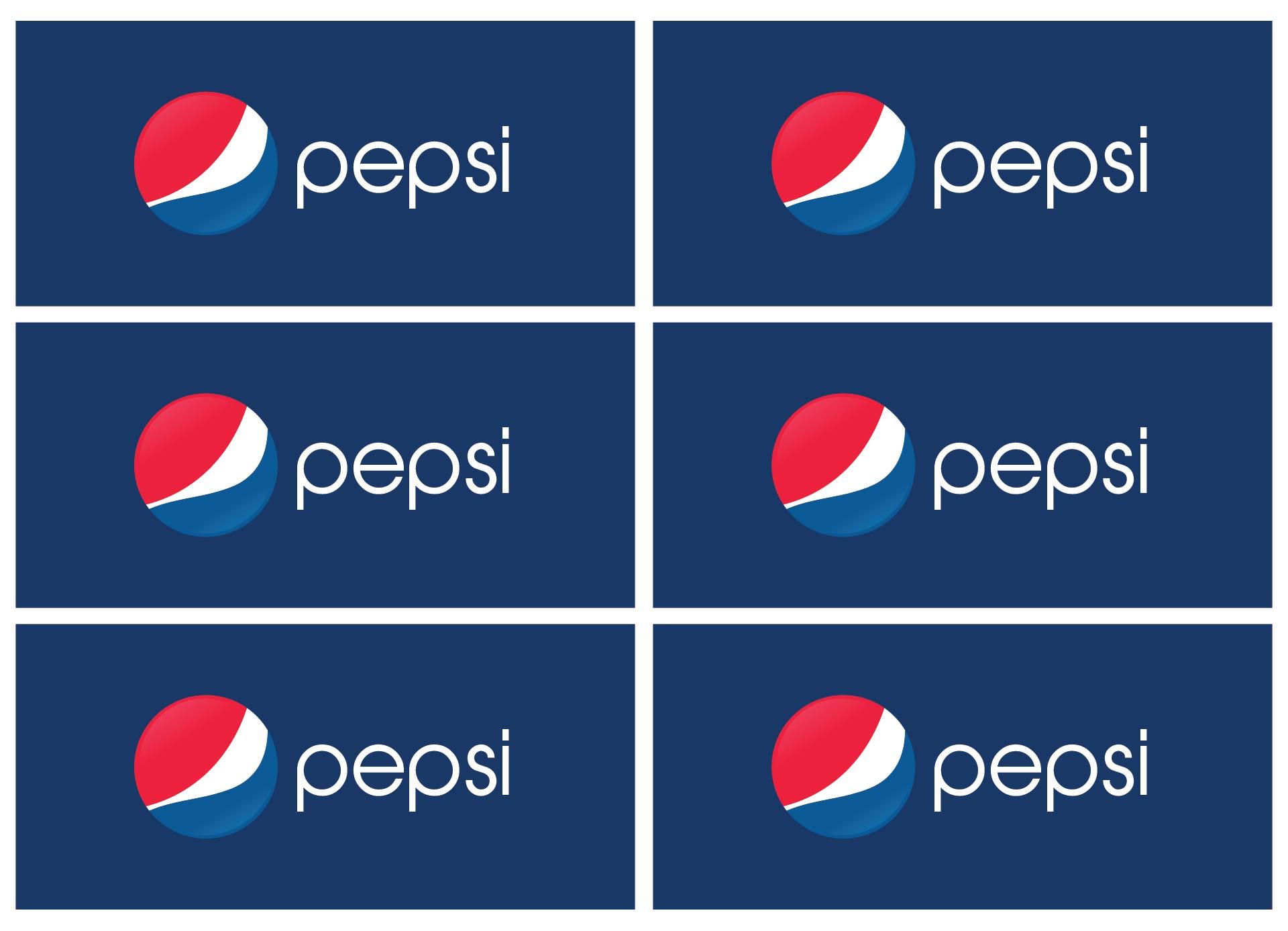 Pepsi Vending Machine Labels