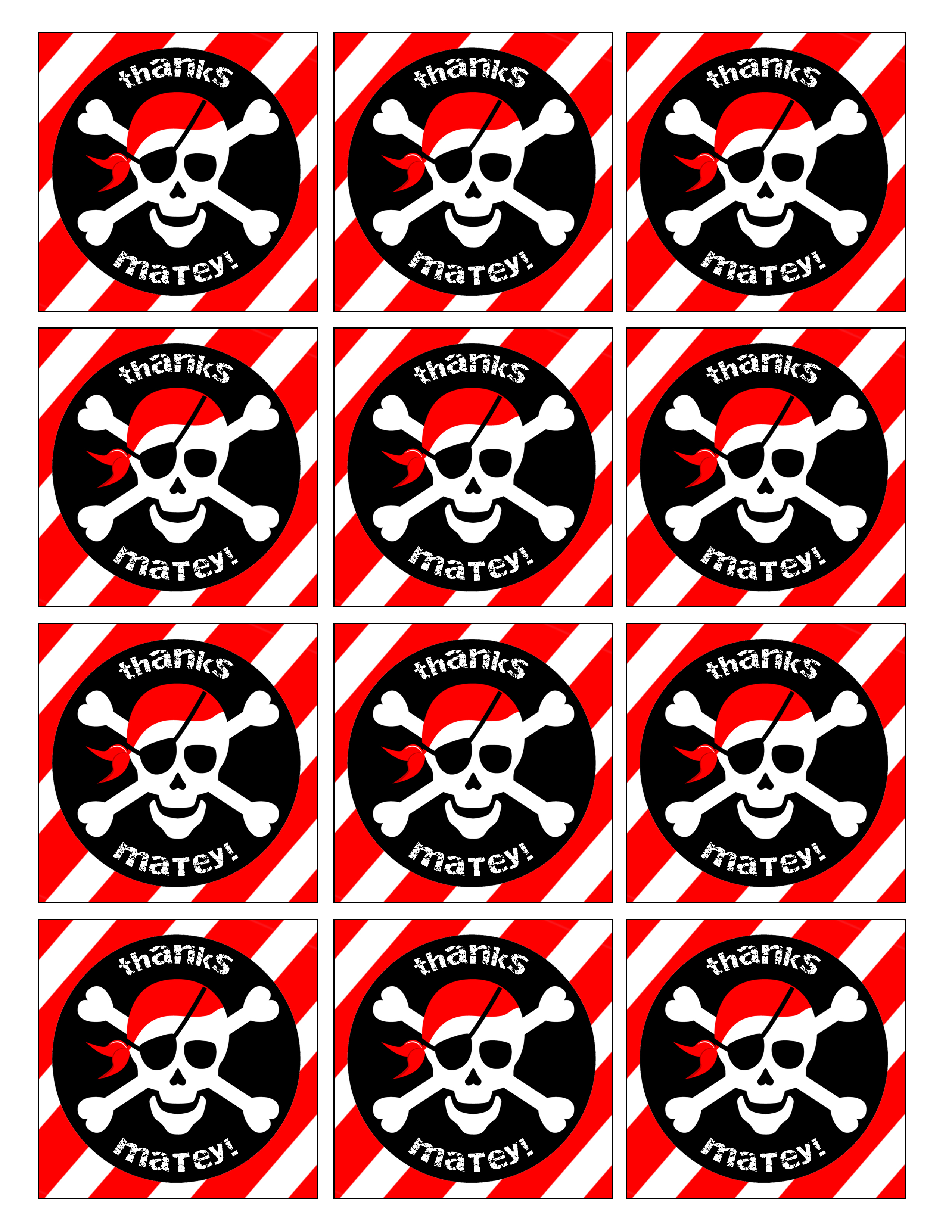 9 Images of Free Printable Pirate Birthday