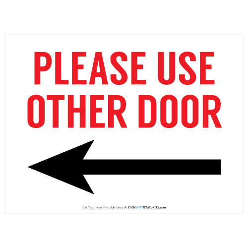 5 Images of Funny Door Signs Printable