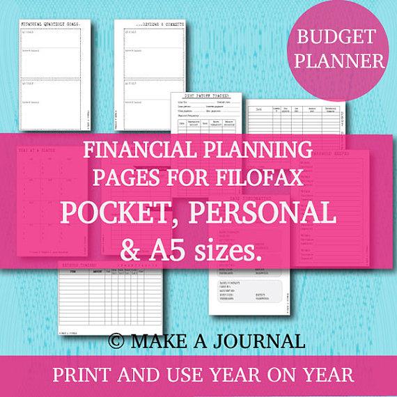 Pocket Size Filofax Printables
