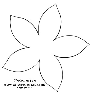 7 Images of Poinsettia Stencil Printable