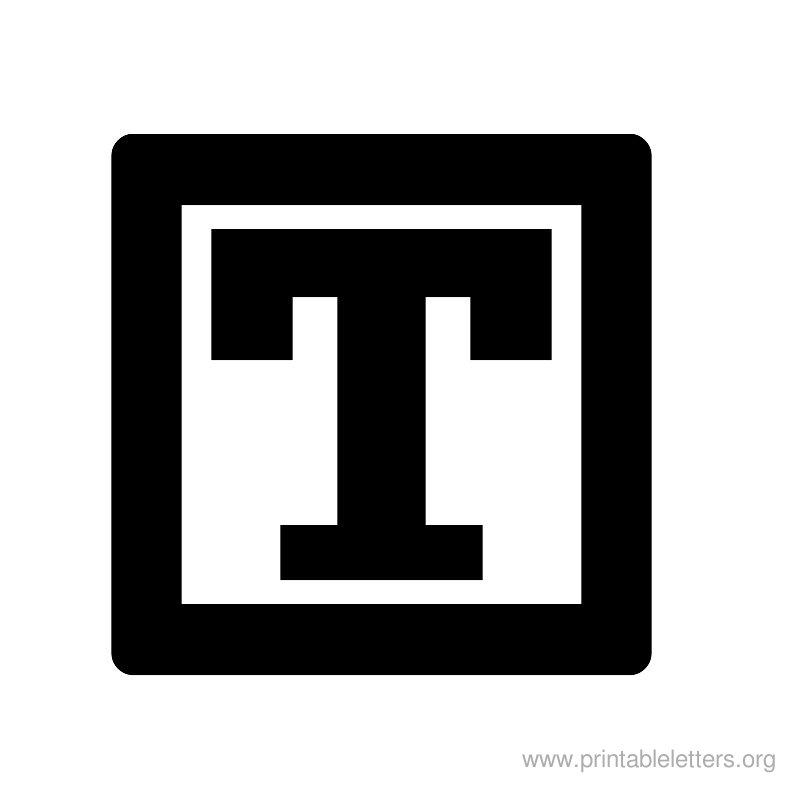 Printable Alphabet Letters T