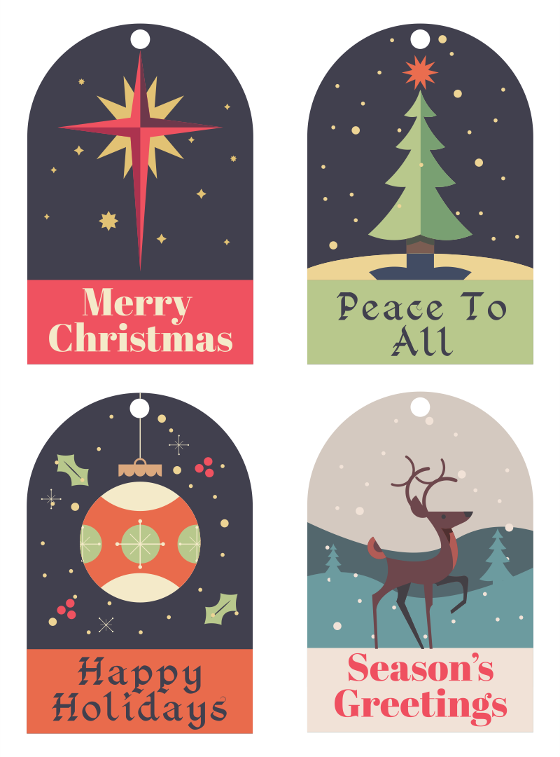 7 Images of Printable Christmas Gift Tags From Santa