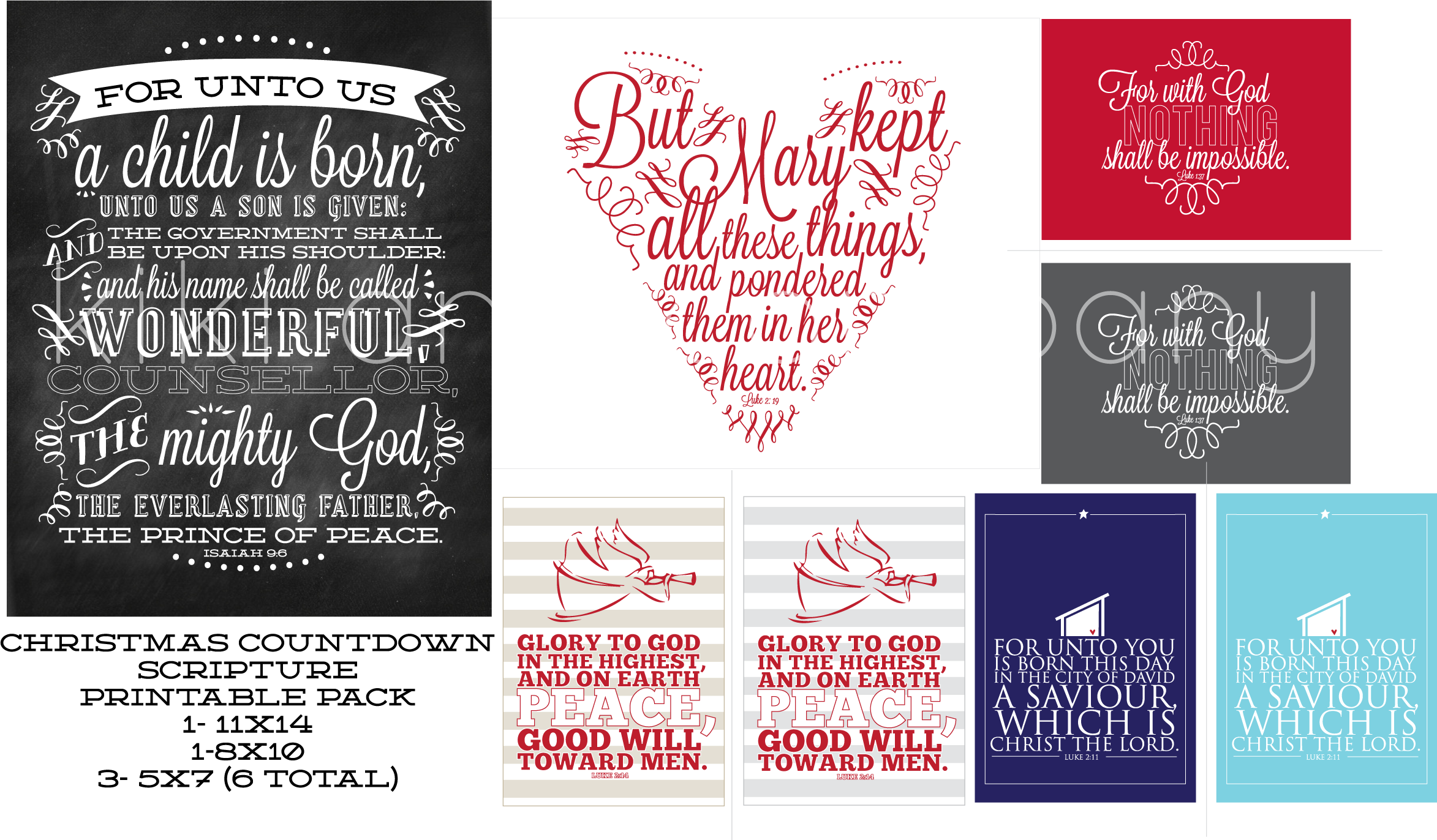 7 Images of Printable Christmas Scriptures