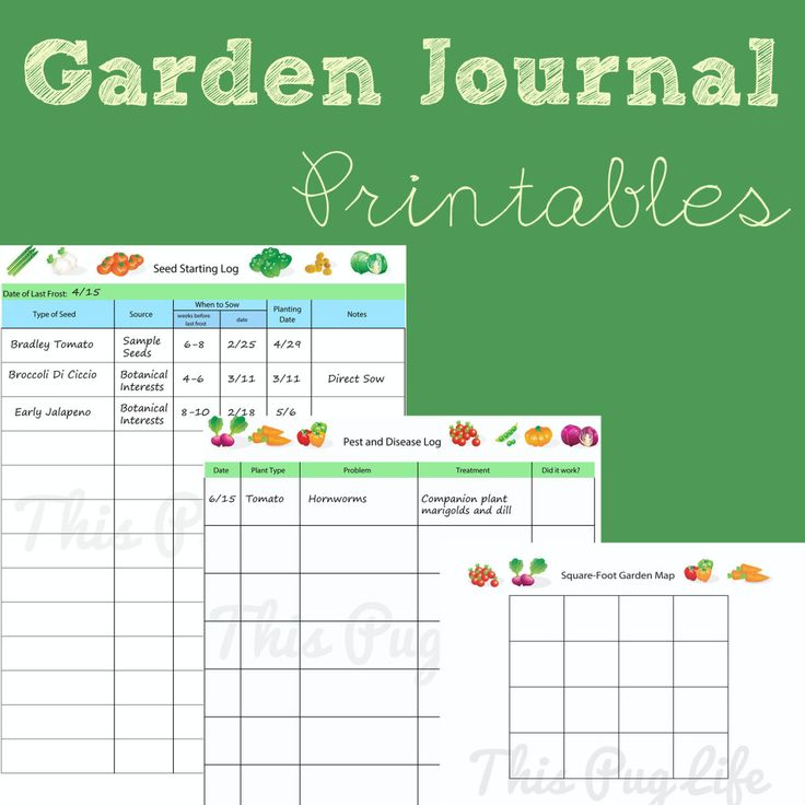 7 Images of Garden Notebook Printables