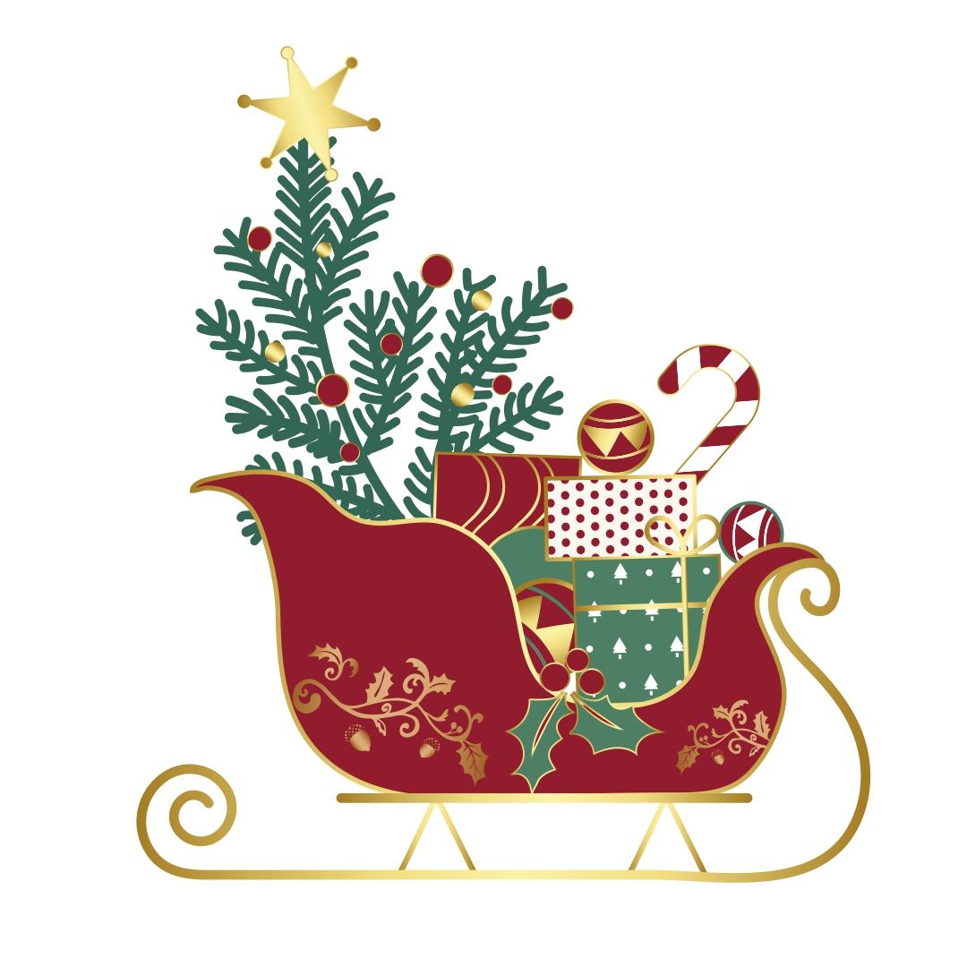 Printable Large Christmas Sleigh