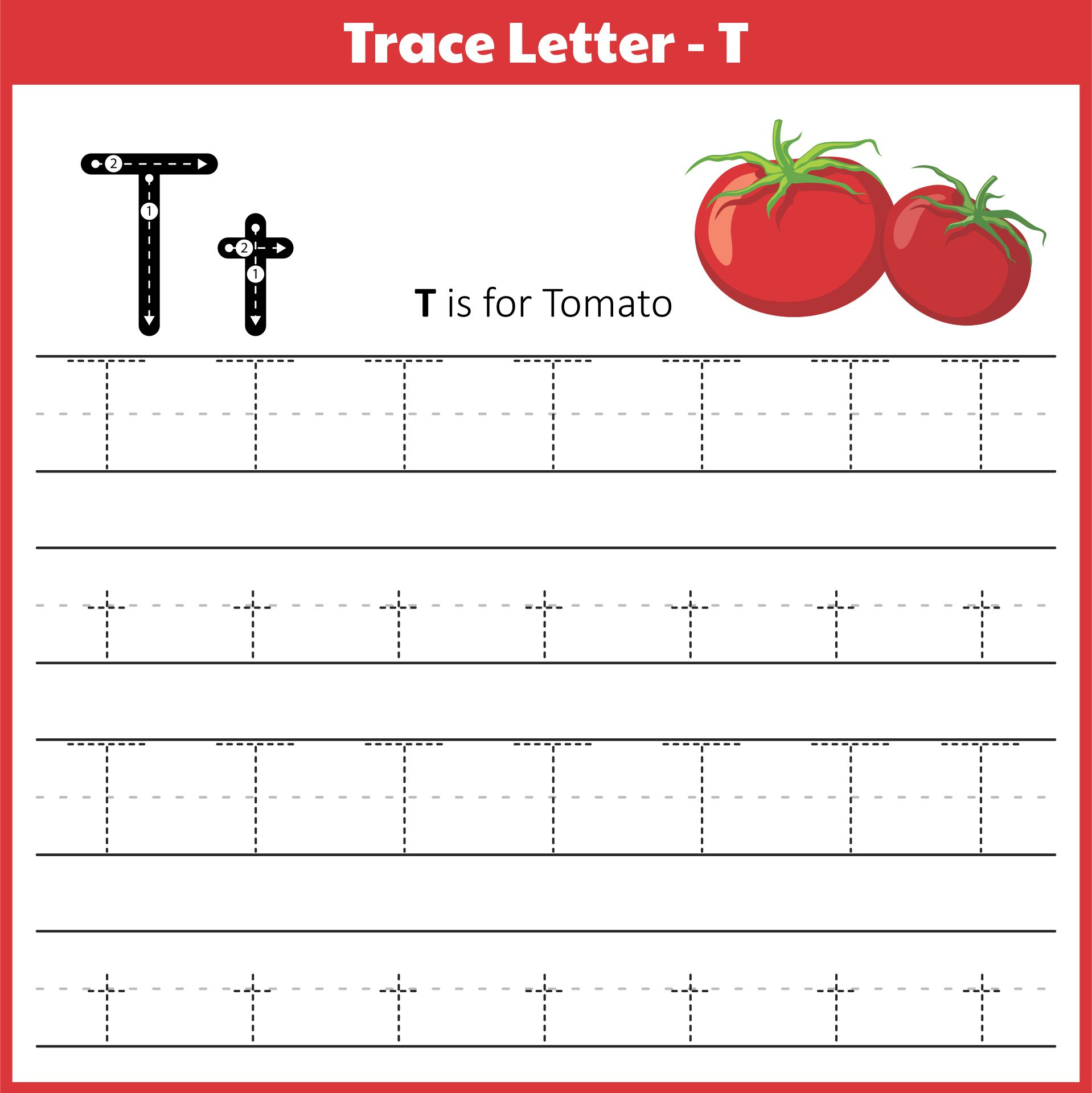 5 Images of Letter T Printables