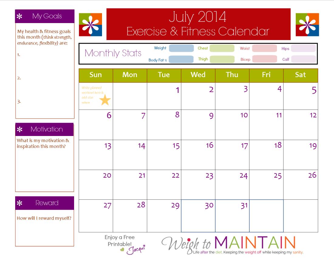 8 best images of printable workout calendar printable monthly workout calendar free printable. Black Bedroom Furniture Sets. Home Design Ideas