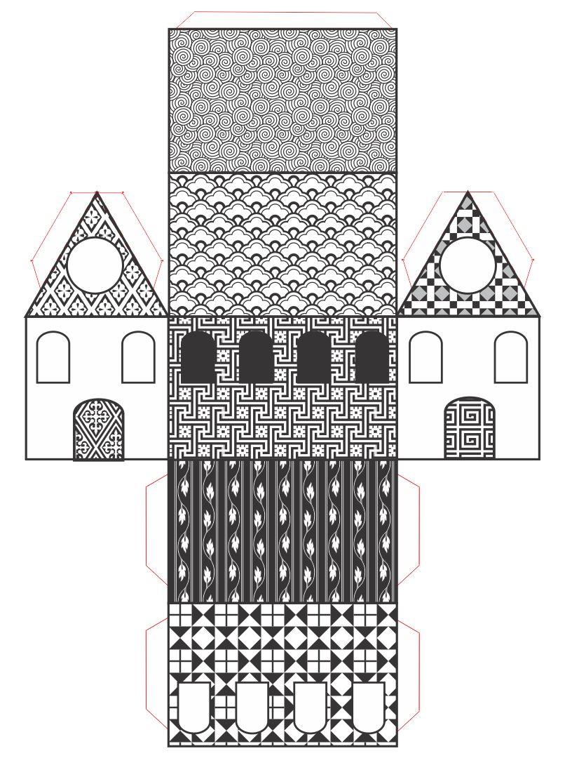 Printable Paper House Models