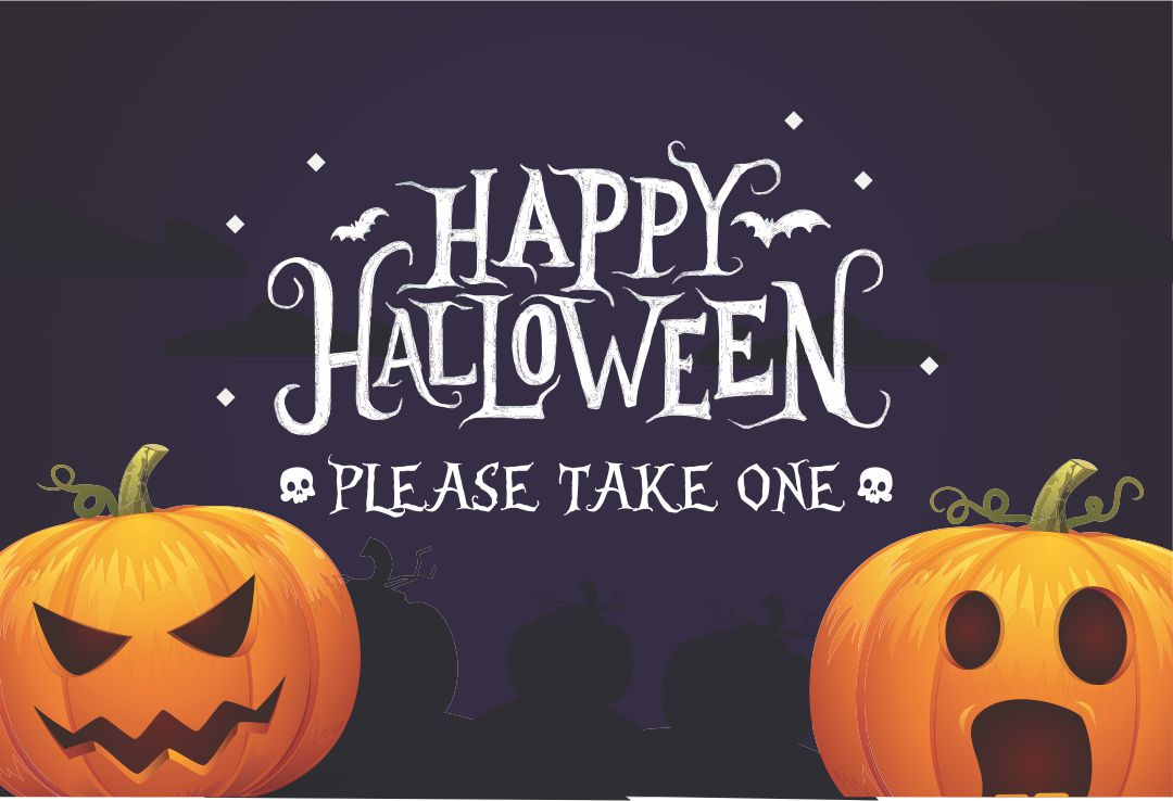 7 Images of Take One Printable Halloween Signs