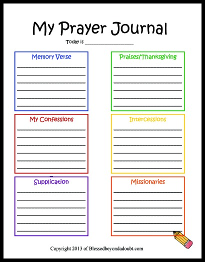 8 Images of Free Printable Prayer Journal Forms