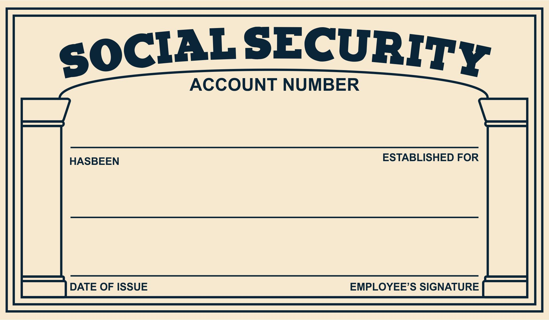 5 Images of Social Security Cards Printable