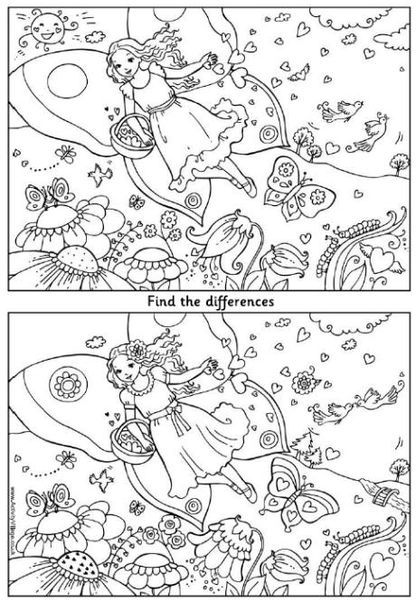8 Images of Find The Difference Printable Valentine
