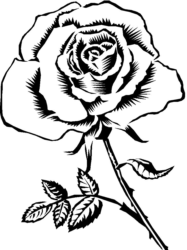 6 Images of Printable Roses Flowers