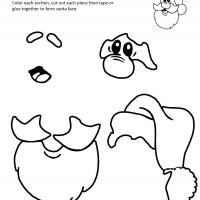 8 Images of Free Printable Santa Face Template