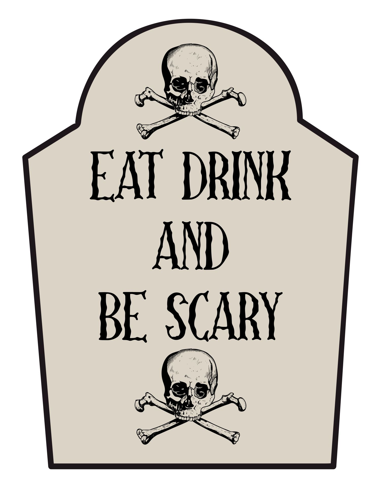 Scary Happy Halloween Signs Printable